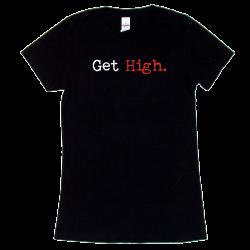 Brandy Clark Ladies Black Tee- Get High.