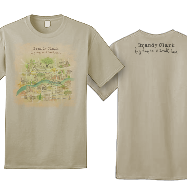 Brandy Clark Big Day In A Small Town Sand Tee
