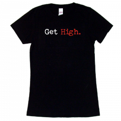Brandy Clark Ladies Black Tee- Get High.